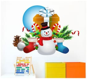 Wall Wings Snowman with gifts Wall Sticker/Stickers