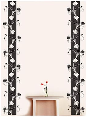 Wall Wings Vertical Floral Vines Vector Art Wall Sticker/Decals (6962)