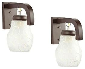 Wall1light-OH2 100-W Sconce Decorative Wall Light (Pack of 2, White, Round)