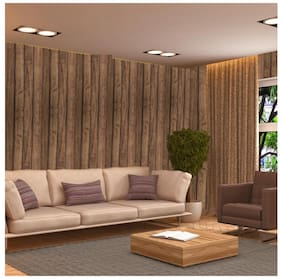 WallDaddy Self Adhesive Wallpaper Model St-WoodenStrip Size (100x40)Cm Set of 1