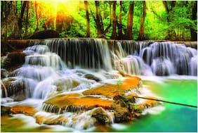Wallpics Beautiful Waterfall Wallpapers Fully Waterproof Vinyl Sticker Poster For Living Room