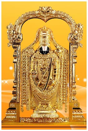wallpics Lord venkateswara swamy Painting Poster Waterproof Vinyl Sticker for Home Decor || (24X36 inches) can1519-3