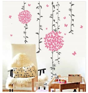 WallTola Butterflies And Floral Decal Wall Sticker