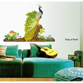 WallTola Decorative Peacock Bird Wall Sticker