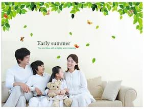 WallTola Early Summer Leaves Wall Sticker