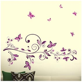 WallTola Floral Art Wall Sticker