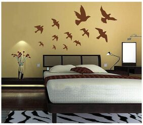 WallTola Flying Birds Wall Sticker