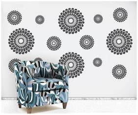 WallTola Geometry Flowers Motifs Wall Sticker