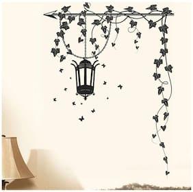 WallTola Hanging Lamp And Vines Wall Sticker