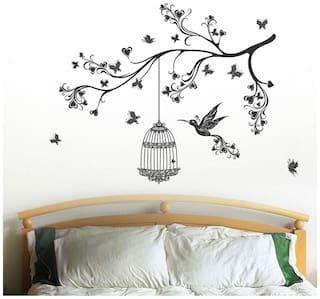 WallTola Headboard Design With Art Wall Sticker