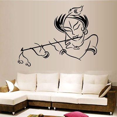 WallTola Krishna Modern Art Wall Sticker