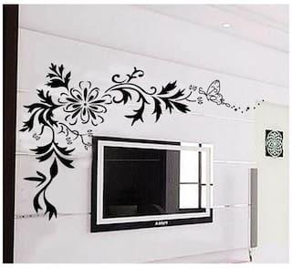 WallTola Lcd Floral Design Wall Sticker