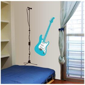 WallTola Rockstar Guitar And Wall Sticker