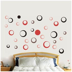 WallTola Simple Circle Motifs Wall Sticker