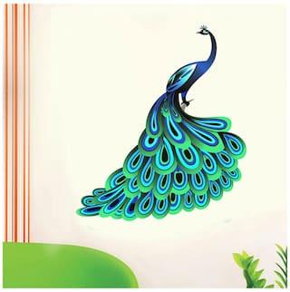 WallTola Unique Peacock Wall Sticker