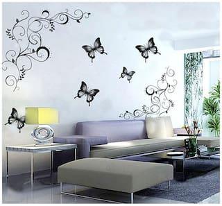 WallTola Wall Decals Lovely Butterflies Living Room Wall Sticker