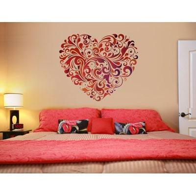 WallTola Wall Decals Heart Floral Wall Sticker Part 96