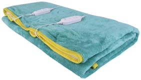 Warmland Polyester Solid Double Size Electric Blanket Green