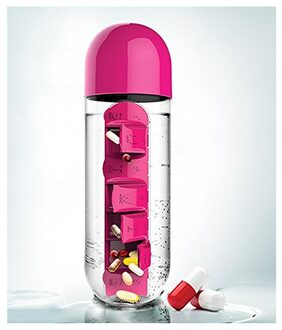 Water Bottle with Pill Box
