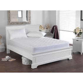 Waterproof Quilted Mattress Protector With 35.56 cm (14 Inch) Elastic Skirting King Size - White (84x72)