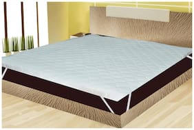 Waterproof Quilted Mattress Protector With Elastic Band King Size - White 75x72