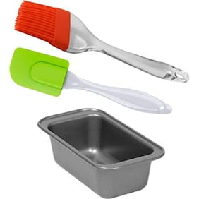 WAY BEYOND Baking Combo Set of 1 Cake/Bread loaf with Silicon Spatula and Basting Brush
