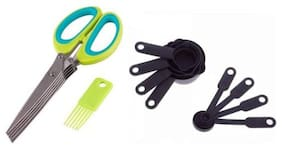 Way Beyond Kitchen Combo Set- Vegetable Scissors;Measuring Cups And Measuring Spoons Kitchen Tool Set