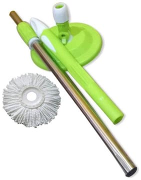 WayMore Magic Mop 360 Degree Rotating Mop Stick Strip Mop (Multicolor) With 1 Refill