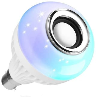 Webilla Led Bulb with Bluetooth Speaker Music Light RGB Light Ball Bulb Colorful Lamp with Remote Control for Home;Bedroom;Living Room;Party Decoration DJ Light