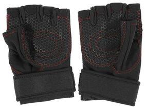 Weightlifting Gym Gloves Workout Wrist Wrapsports Exercisetraining M
