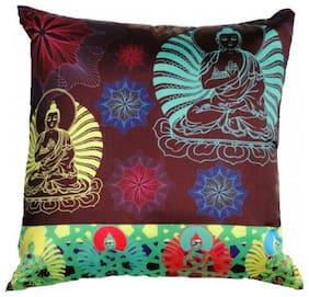 Welhouse India Budha Art 3D Cushion Covers - Pack of 1