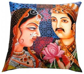 Welhouse India Nature Lover 3D Digital Cushion Cover - Pack of 1