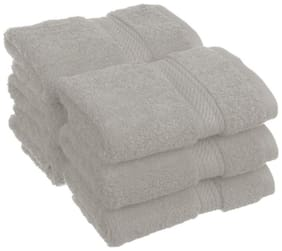 Welhouse India 200 GSM Cotton Face Towel ( 6 Pieces , Grey )