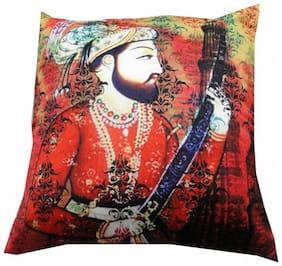 Welhouse India Veer Shiva Ji 3D Digital Cushion Cover - Pack of 1