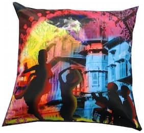 Welhouse India Art of Dance 3D Digital Cushion Cover - Pack of 1