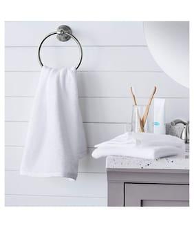 Welhouse India 200 GSM Cotton Bath towel ( 1 piece , White )