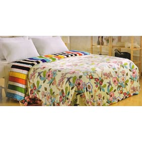 Welhouse Beige Polyester GSM 350 Single Bed Blanket
