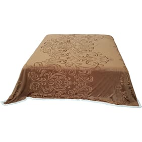 Welhouse Brown GSM 350 Double Bed Blanket