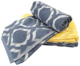 Welhouse India 200 GSM Cotton Bath towel ( 1 piece , Multi )