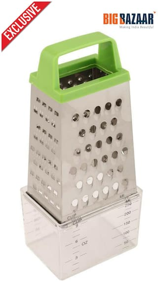 Wellberg 4 Sided Stainless Steel Grater with Container