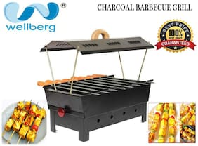 WELLBERG Charcoal Barbecue Grill  WITH 8 Skwers