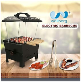 """WELLBERG Electric & Charcoal Barbeque ( 2 in 1 BBQ) """"MULTI PURPOSE"""""""