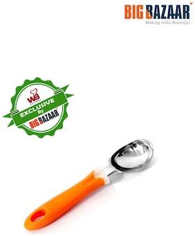 Wellberg Ice Cream Scoop  Steel scoop  plastic handle
