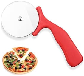 Wellberg Rolling Pizza Cutter  (Stainless Steel)