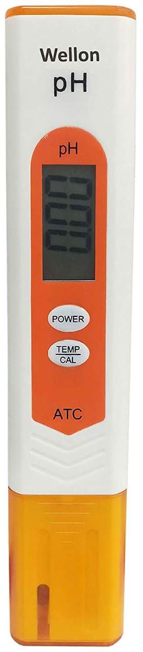 WELLON Digital Portable Pen Type pH Meter Tester Water Purity Pool Aquarium Measurement Orange