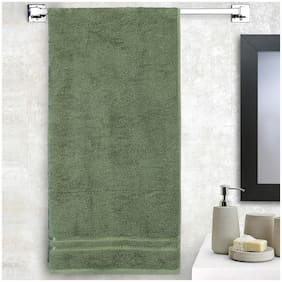 Welspun 380 GSM GSM Cotton Bath towel ( 1 piece , Green )
