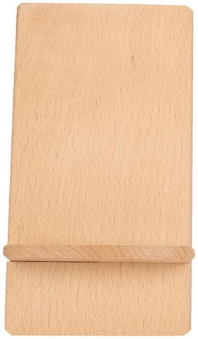 WENZEL  Wooden Unique Style Mobile Stand (Set of 1)