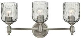 "Westinghouse 6326400 Pewter Basset 3-Light 22-13/16""W Bathroom Vanity Light"