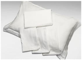 White Solid Pillow Covers (Pillow Cover (2 Pc Set)
