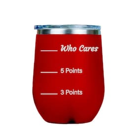 Who Cares diet points  12oz Stainless Steel Stemless Wine Tumbler - Red